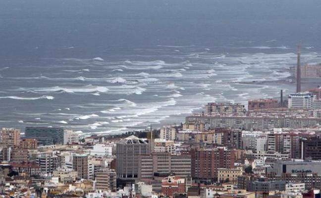 Aemet activa el aviso amarillo en Málaga por viento