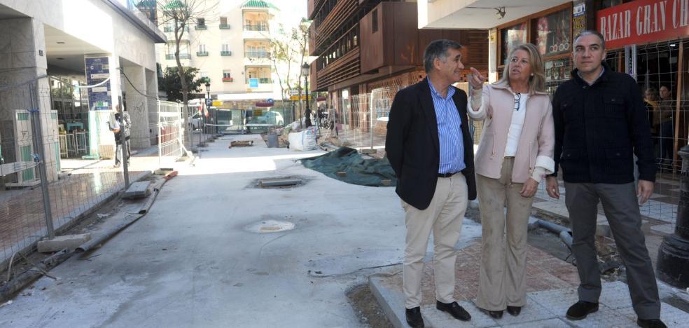La reforma de las calles del centro de Marbella terminará antes de Semana Santa