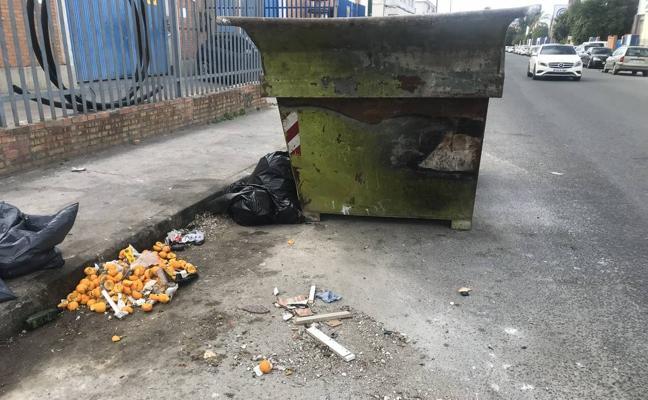 Calle bodegueros: Suciedad por doquier