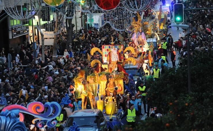 La cabalgata de Reyes Magos en Marbella
