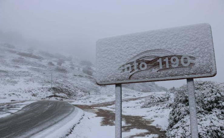La nieve llega al interior de la provincia de Málaga