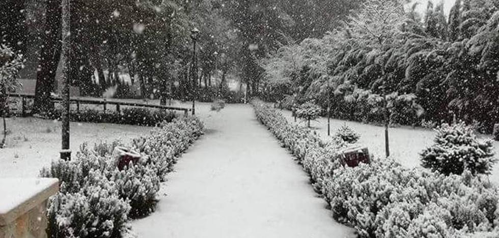 Los Reyes Magos dejan nieve en el interior de Málaga