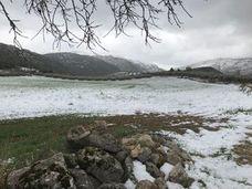 La Alta Axarquía mantiene el manto blanco a la espera de más nevadas
