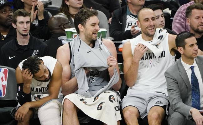 Pau Gasol roza el 'doble-doble' en la derrota de los Spurs
