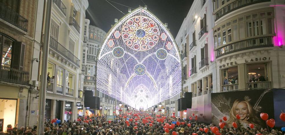 Luces y sombras del modelo navideño de Málaga