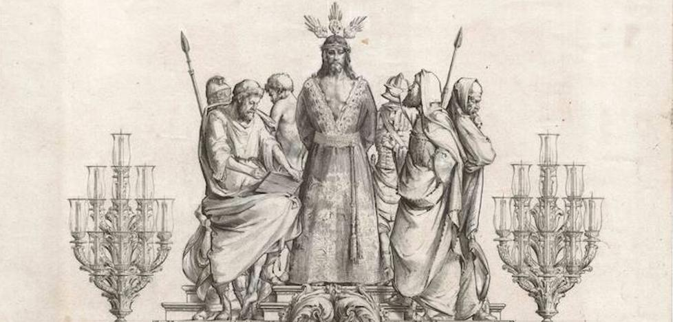 La Cofradía de la Sentencia hará un nuevo trono para el Cristo con diseño de José María Ruiz Montes