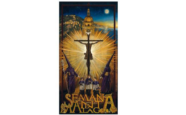 Este sábado, gratis con Diario SUR, el cartel oficial de la Semana Santa de Málaga de 2018
