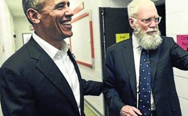 Letterman regresa a la TV con Obama