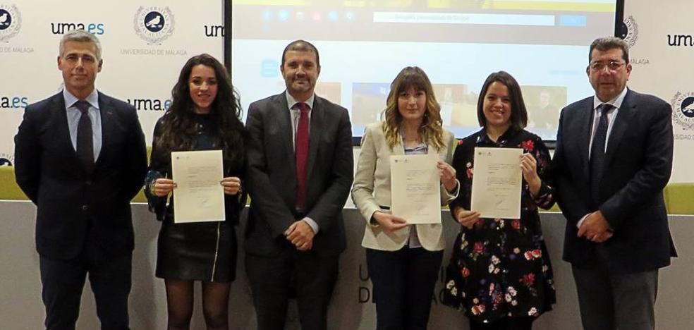 La cátedra Manuel Molina premia los mejores trabajos fin de curso en Turismo en la UMA