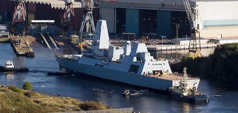 El buque de guerra más moderno de la Armada británica, en Málaga este martes
