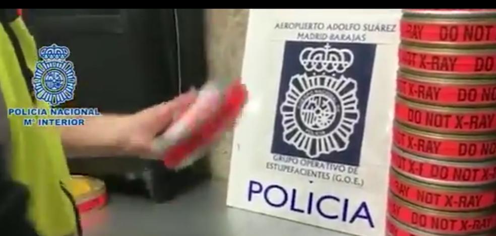 Detenido por intentar meter en España 3,5 kilos de cocaína en rollos de película