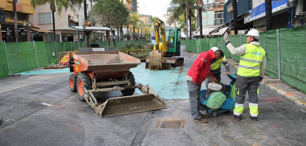 Comerciantes del centro de Torremolinos piden ajustes fiscales hasta que finalicen las obras