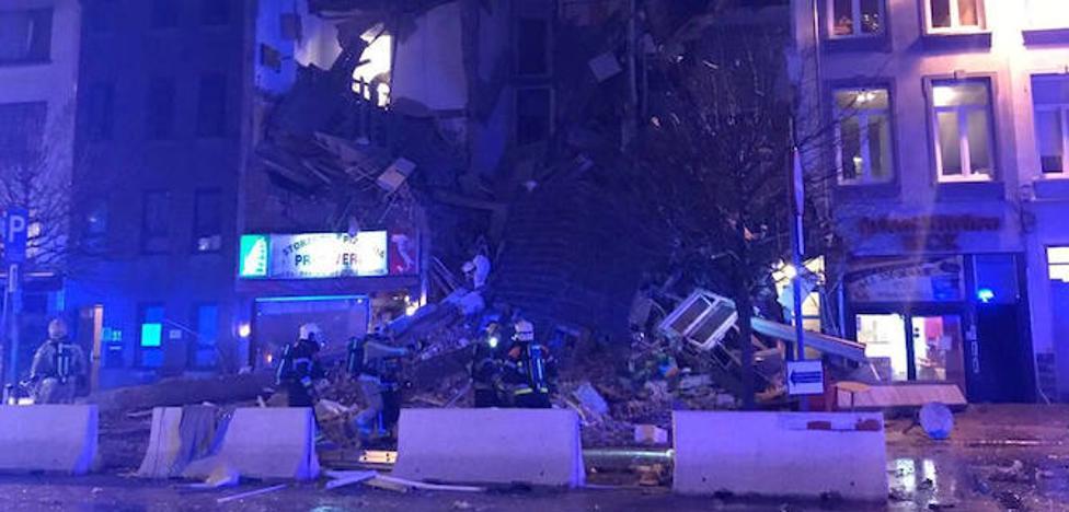 Una decena de heridos tras explosión en un edificio de Amberes