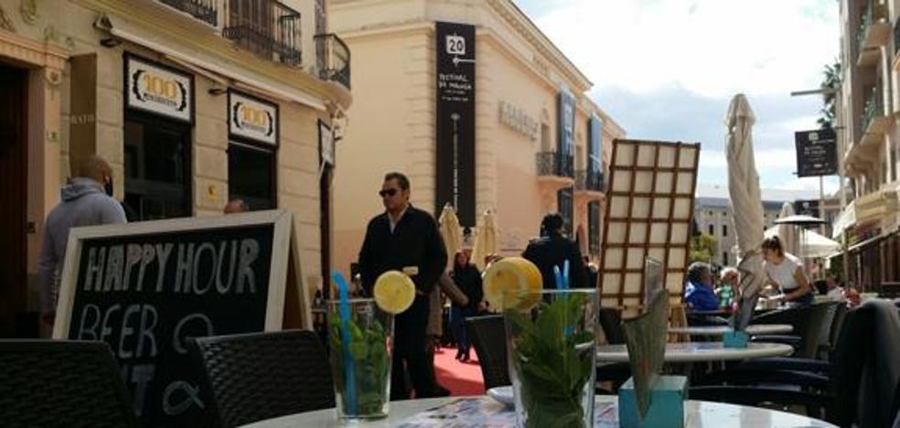 """Málaga Ahora advierte de que el """"exceso"""" de terrazas en el centro """"debe ser controlado"""""""