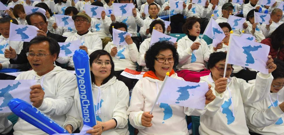 Una sola bandera olímpica para Corea