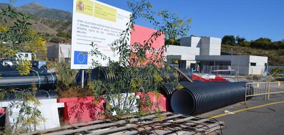 Las obras de la depuradora de Nerja se retomarán el lunes tras nueve meses paralizadas