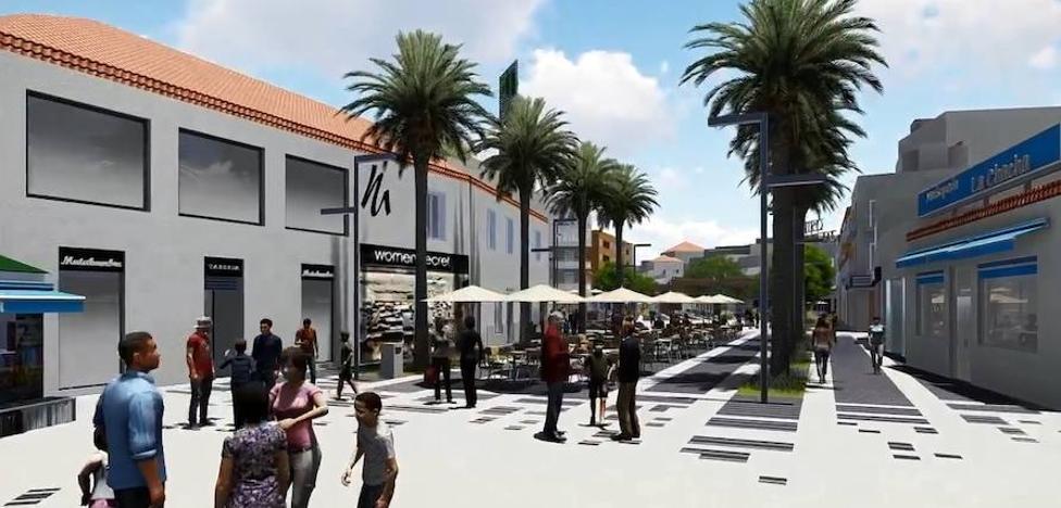 Recorre el futuro bulevar de la plaza Costa del Sol de Torremolinos en una recreación 3D