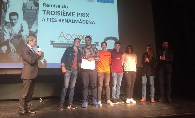 El IES Benalmádena, primer premio en un concurso sobre Camus y el fútbol