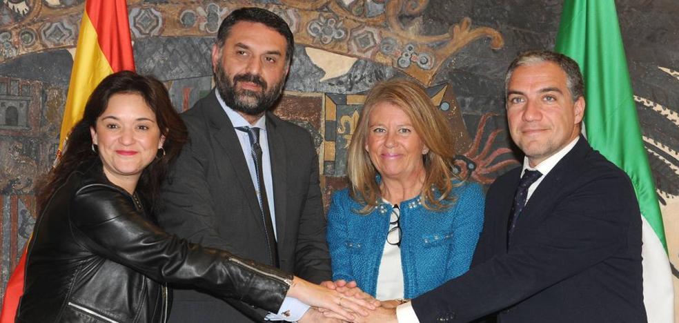 Junta, Diputación de Málaga y Mancomunidad formalizan su respaldo a la Copa Davis en Marbella
