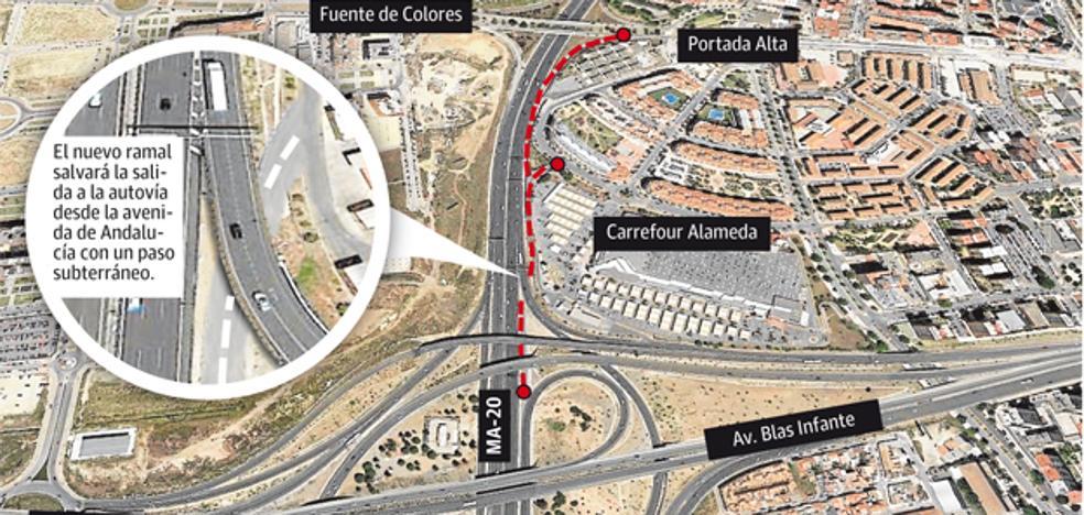 Portada Alta y Teatinos recuperarán este año un acceso desde la autovía
