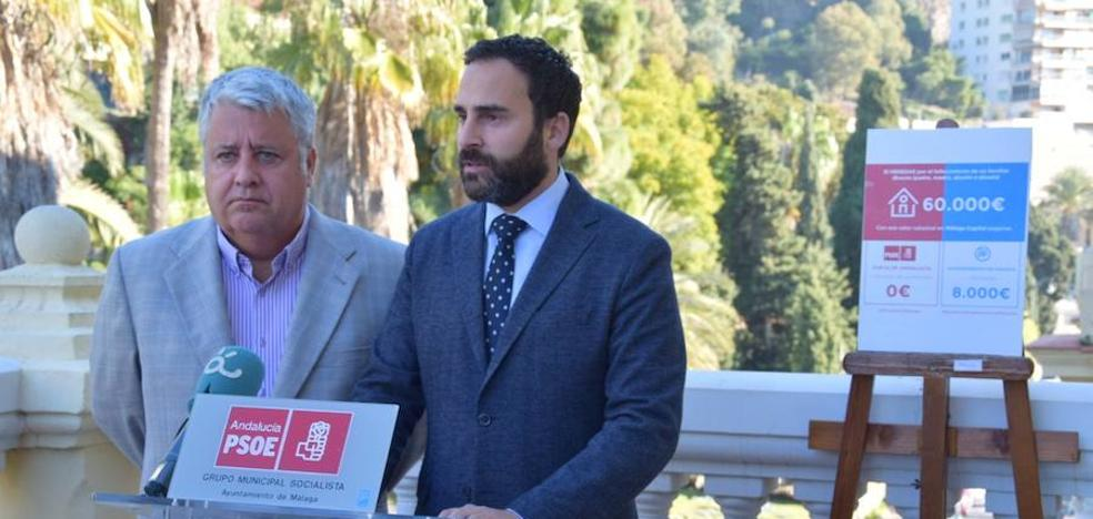 El PSOE critica que PP y Cs no hayan pactado bonificar la plusvalía en el Ayuntamiento de Málaga