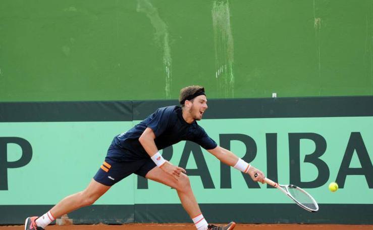 Los jugadores de la Copa Davis se entrenan en Marbella