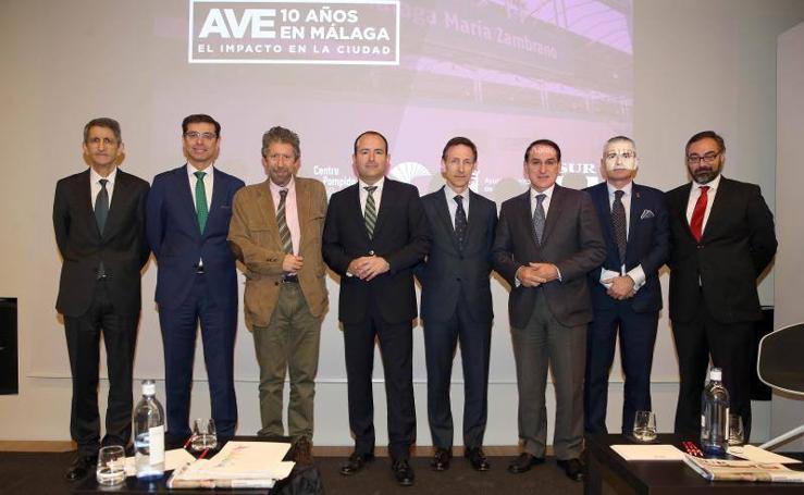 Fotos del Foro SUR sobre los diez años del AVE en Málaga