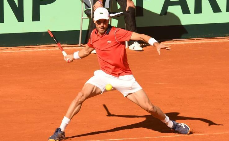 El segundo partido de la Copa Davis, en imágenes