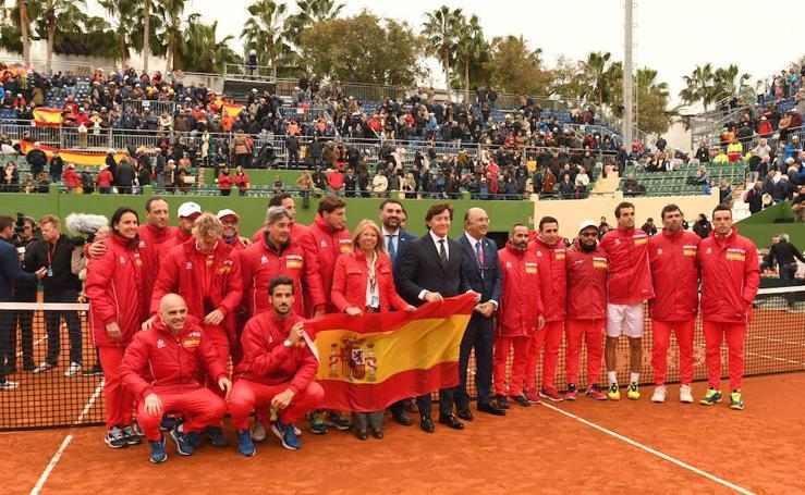 Fotos del partido que ha dado a España el pase a cuartos de final de la Copa Davis