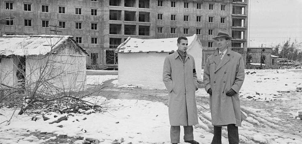 Aquel día en el que nevó en Málaga capital: fotos inéditas de la nevada de febrero de 1954