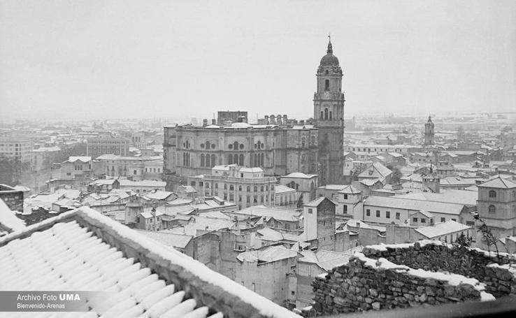 El día que nevó y cuajó en Málaga capital: 3 de febrero de 1954