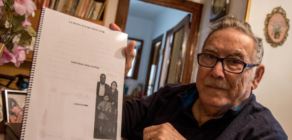 Cristóbal Moya, un niño de cinco años por la carretera Málaga-Almería