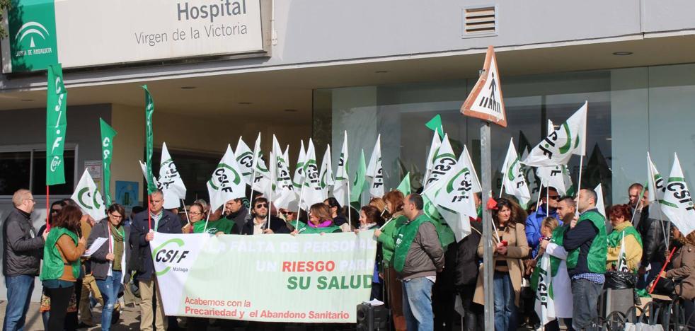 Profesionales de Málaga se concentran para denunciar «la situación extrema» de las urgencias del SAS