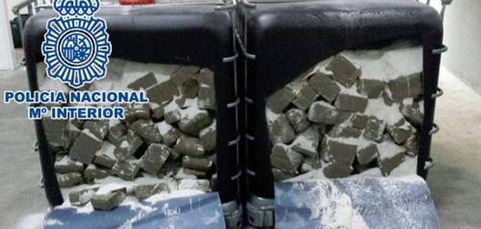 Intervienen en Alhaurín de la Torre 640 kilos de droga 'critical', una sustancia a base de marihuana picada y polen de hachís