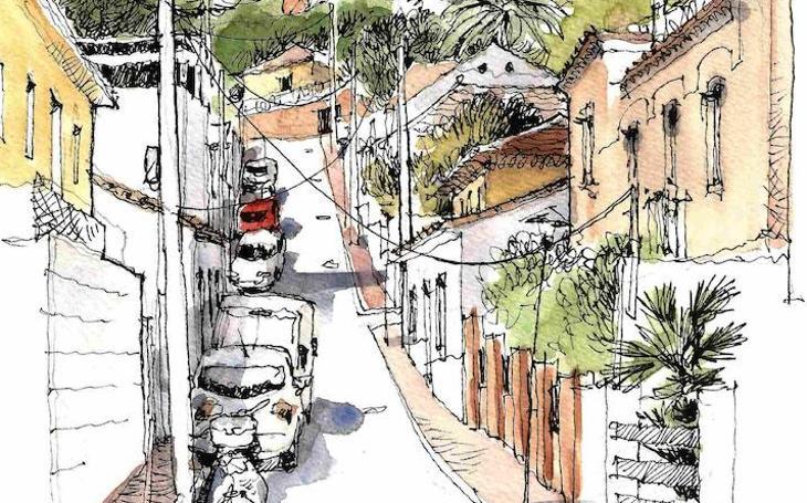 Málaga a trazos: Pendiente abajo