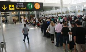 El aeropuerto de Málaga gana casi un 8% de pasajeros en enero