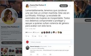 Susana Díaz condena el crimen de La Viñuela: «La escalada de asesinatos de mujeres es insoportable»