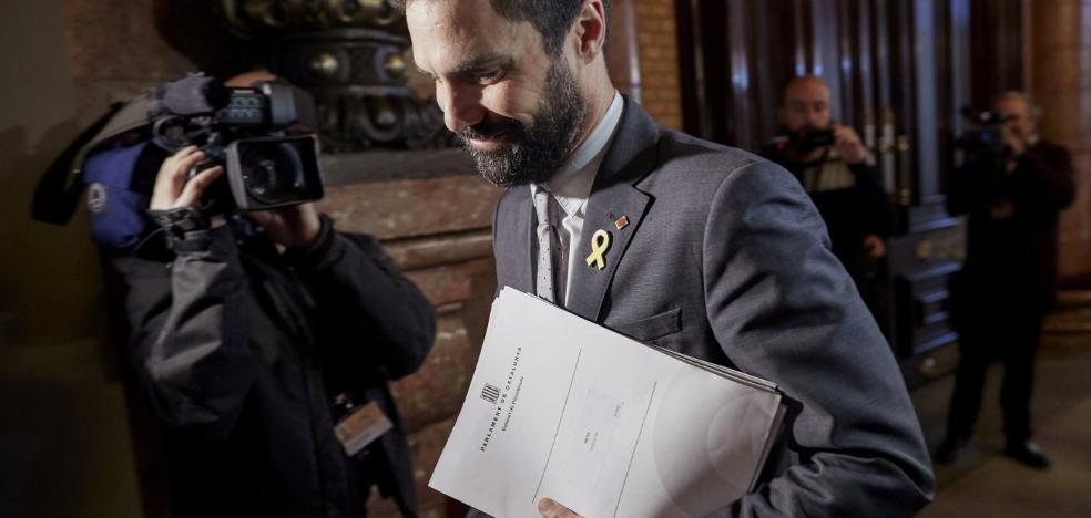 Torrent se enfrenta a JxCat al llevar el veto a Puigdemont a la justicia europea