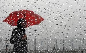 Una Dana puede dejar lluvias fuertes a partir del domingo en Málaga