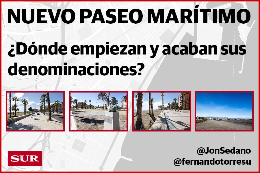 Nuevo Paseo Marítimo: Banderas, Machado, Pacífico o Poniente. ¿Dónde empiezan y acaban sus denominaciones?