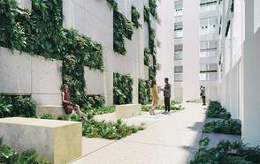 Estudiantes de Arquitectura ganan un premio con su diseño de un jardín vertical