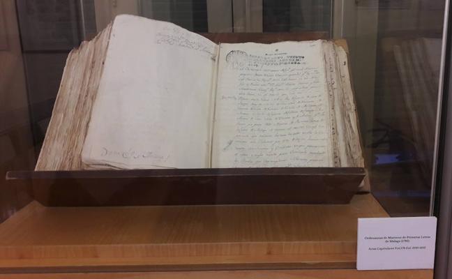 El Archivo Municipal expone un documento sobre la estructura educativa de la ciudad en el siglo XVIII
