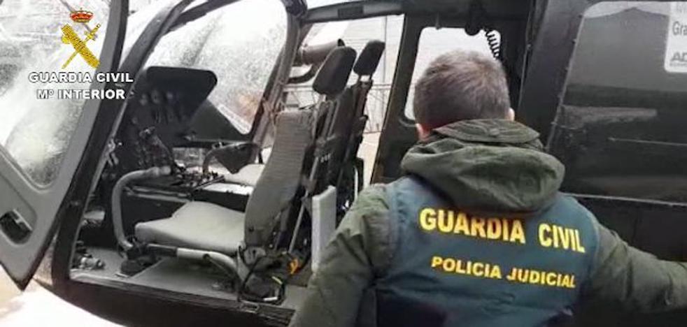 Desarticulan una red internacional de narcotráfico tras encontrar un helicóptero oculto en una finca de Ronda