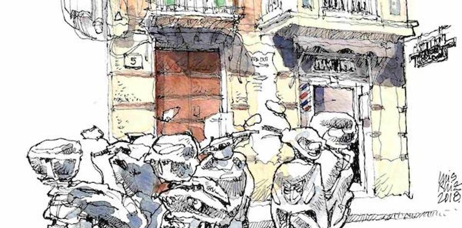 Málaga a Trazos. Calle Mariblanca, una imagen urbana