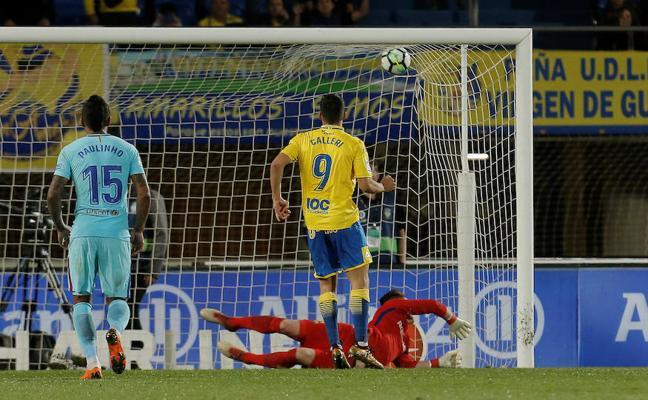 Calleri transformó el primer penalti en contra del Barça en más de dos años