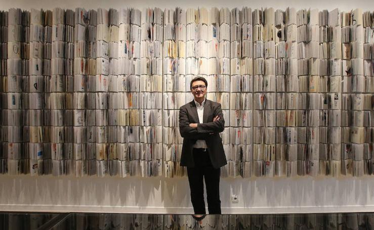 La exposición de Manuel Estrada en Málaga, imágenes