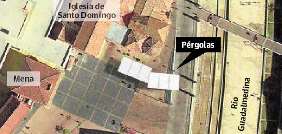 Urbanismo prevé dos de las pérgolas de Santo Domingo junto a la iglesia