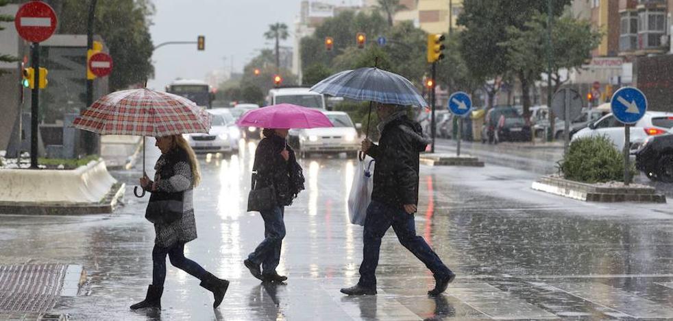 Meteorología prevé de nuevo lluvias fuertes hoy en Málaga, la Costa y el Guadalhorce