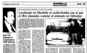 El paso por la Costa del Sol de tres miembros del IRA abatidos en Gibraltar