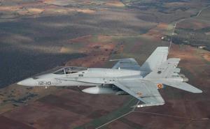 Una docena de cazas F18 participarán el lunes en el ejercicio Dapex en Málaga